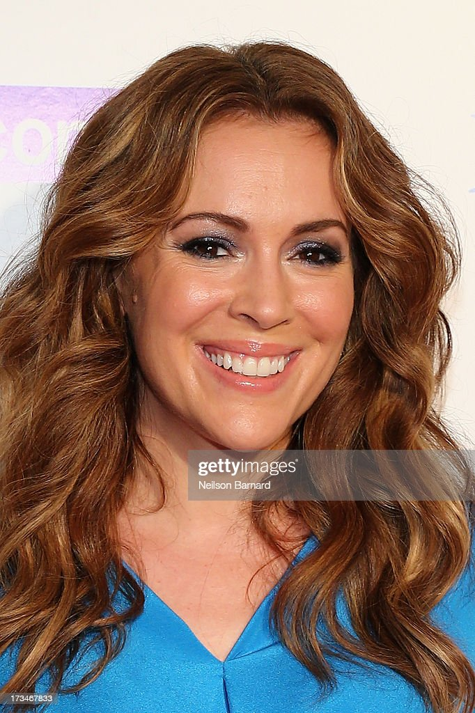 Actress Alyssa Milano attends Major League Baseball's All Star Bash presented by MLB.com, Delta and Nivea at Roseland Ballroom on July 14, 2013 in New York City.