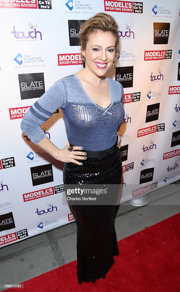 Actress Alyssa Milano attends Modell's Super Bowl Kickoff Party & Touch By Alyssa Milano Fashion Show at Slate on January 30, 2014 in New York City.