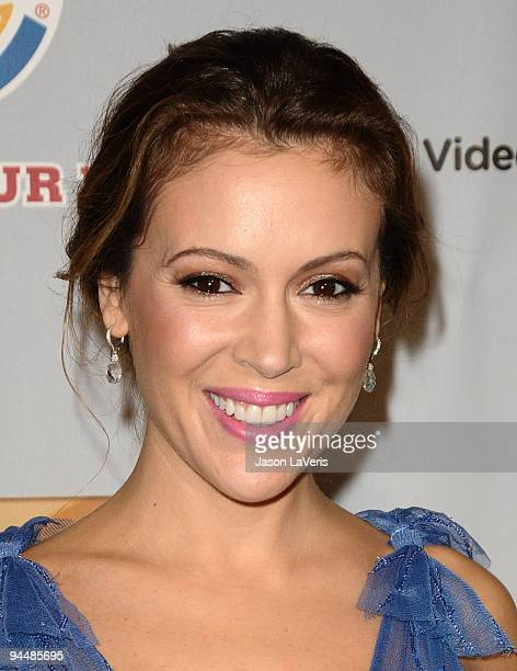 Actress Alyssa Milano attends Spike TV's 7th annual Video Game Awards at Nokia Theatre LA Live on December 12 2009 in Los Angeles California