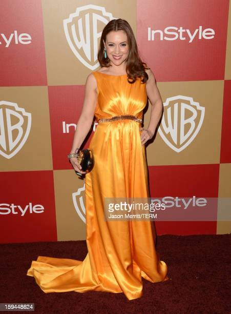Actress Alyssa Milano attends the 14th Annual Warner Bros And InStyle Golden Globe Awards After Party held at the Oasis Courtyard at the Beverly...