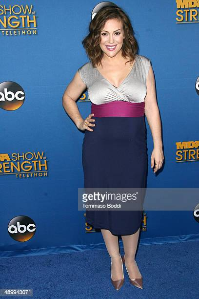 Actress Alyssa Milano attends the 2014 MDA Show of Strength Telethon held at the Hollywood Palladium on May 12 2014 in Hollywood California
