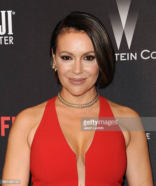 Actress Alyssa Milano attends the 2017 Weinstein Company and Netflix Golden Globes after party on January 8 2017 in Los Angeles California