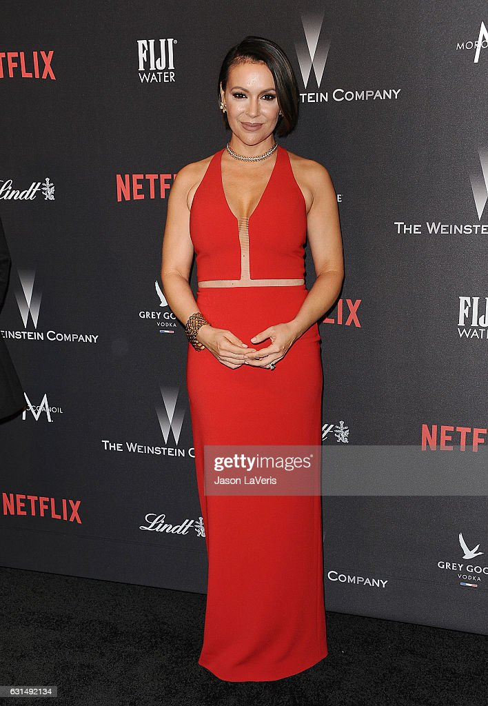 Actress Alyssa Milano attends the 2017 Weinstein Company and Netflix Golden Globes after party on January 8, 2017 in Los Angeles, California.