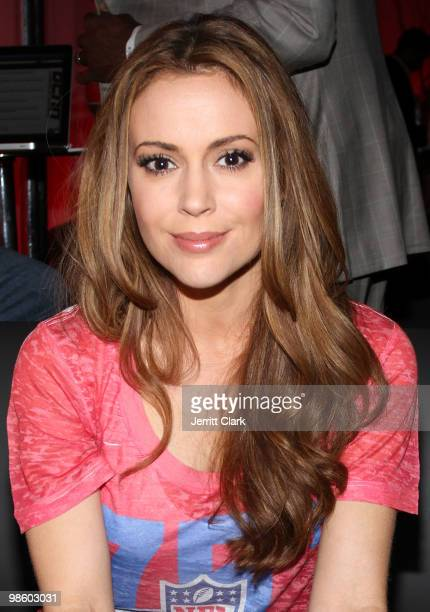 Actress Alyssa Milano attends the 7th Annual ESPN The Magazine PreDraft Party at Espace on April 21 2010 in New York City