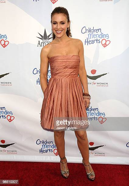 Actress Alyssa Milano attends the Children Mending Hearts 3rd annual Peace Please gala at The Music Box at the Fonda Hollywood on April 16 2010 in...
