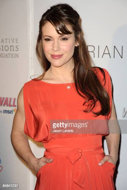 Actress Alyssa Milano attends the Children Mending Hearts charity event at the House of Blues on February 18 2009 in Los Angeles California