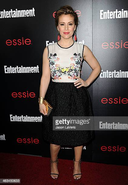 Actress Alyssa Milano attends the Entertainment Weekly SAG Awards preparty at Chateau Marmont on January 17 2014 in Los Angeles California