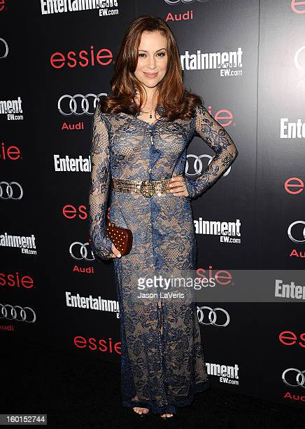 Actress Alyssa Milano attends the Entertainment Weekly Screen Actors Guild Awards preparty at Chateau Marmont on January 26 2013 in Los Angeles...