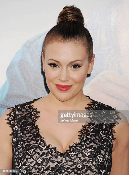 Actress Alyssa Milano attends the 'Get Hard' Los Angeles premiere held at the TCL Chinese Theatre IMAX on March 25 2015 in Hollywood California