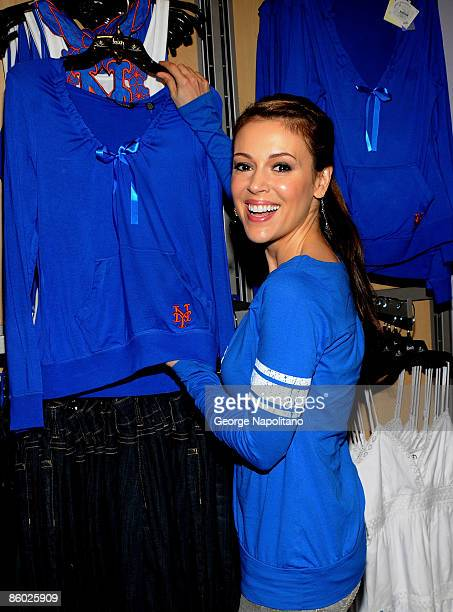 Actress Alyssa Milano attends the grand opening of Touch Boutique at Citi Field on April 18 2009 in New York City