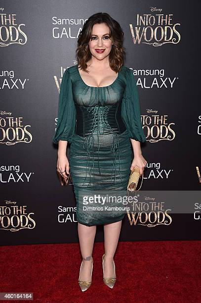 Actress Alyssa Milano attends the 'Into The Woods' World Premiere at Ziegfeld Theater on December 8 2014 in New York City