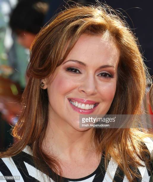 Actress Alyssa MIlano attends the premiere of Disney's 'Planes' at the El Capitan Theatre on August 5 2013 in Hollywood California