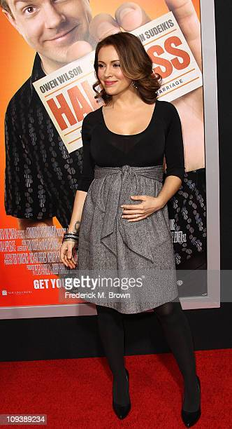 Actress Alyssa Milano attends the premiere of Warner Brothers' 'Hall Pass' at the Cinerama Dome on February 23 2011 in Los Angeles California