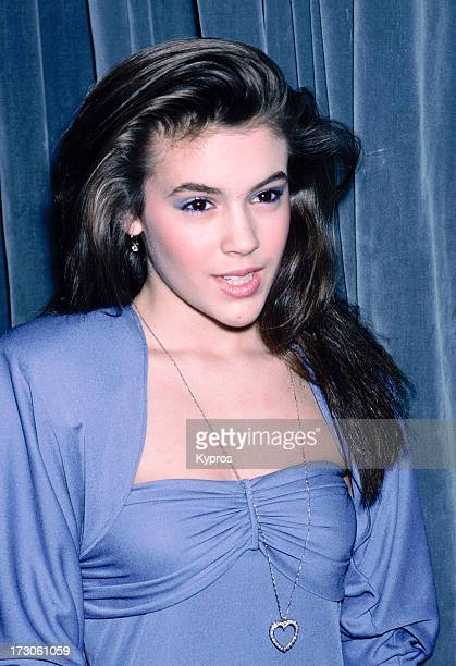 Actress Alyssa Milano circa 1990