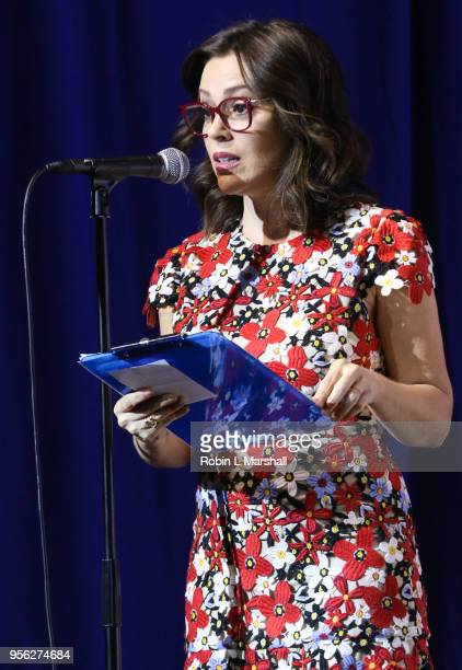 Actress Alyssa Milano moderates the 25th Congressional District Democratic Candidate Debate Presented by NextGen America at The Canyon on May 8 2018...