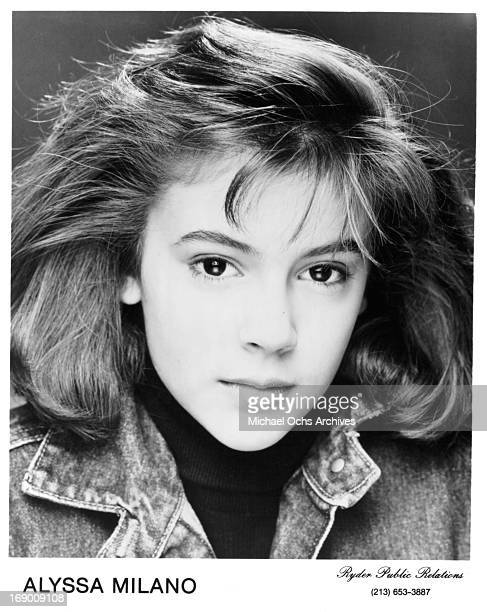 Actress Alyssa Milano poses for a portrait in circa 1985