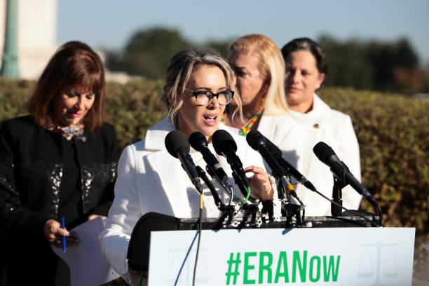 DC: Alyssa Milano Visits Capitol Hill To Support Equal Rights Amendment