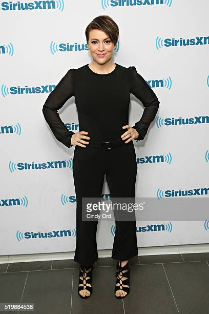 Actress Alyssa Milano visits the SiriusXM Studio on April 8 2016 in New York City