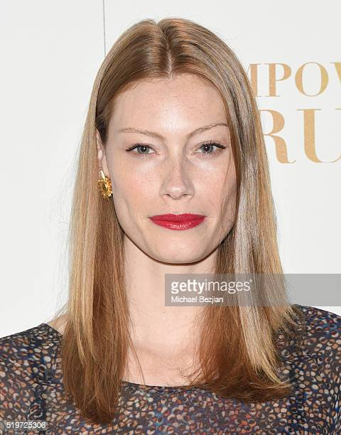 Actress Alyssa Sutherland arrives at Empowered Brunch With Cindy Cowan at Four Seasons Hotel Los Angeles at Beverly Hills on April 7 2016 in Los...