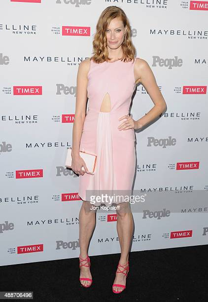 Actress Alyssa Sutherland arrives at People's 'Ones To Watch' Event at Ysabel on September 16 2015 in West Hollywood California