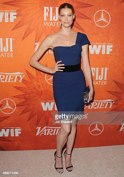 Actress Alyssa Sutherland arrives at the Variety And Women In Film Annual Pre-Emmy Celebration at Gracias Madre on September 18, 2015 in West...