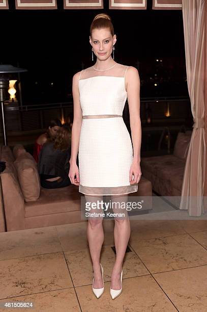 Actress Alyssa Sutherland attends ELLE's Annual Women in Television Celebration on January 13 2015 at Sunset Tower in West Hollywood California...
