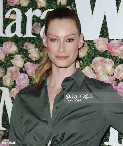 Actress Alyssa Sutherland attends Max Mara and Vanity Fair's celebration of Women In Film's Face of the Future Award recipient Zoey Deutch at Chateau...