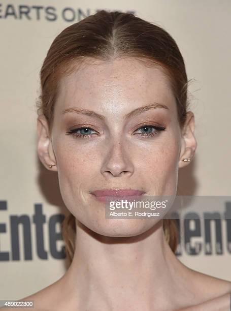 Actress Alyssa Sutherland attends the 2015 Entertainment Weekly PreEmmy Party at Fig Olive Melrose Place on September 18 2015 in West Hollywood...