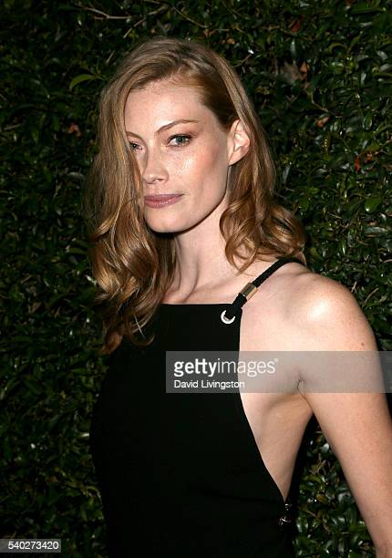Actress Alyssa Sutherland attends the 2016 Women In Film Max Mara Face of the Future celebrating Natalie Dormer at Chateau Marmont on June 14 2016 in...