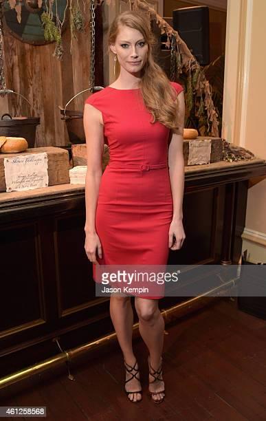 Actress Alyssa Sutherland attends the JAN 2015 TCA History Vikings Party on January 9 2015 in Pasadena California