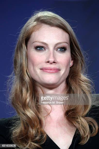 Actress Alyssa Sutherland of the series 'The Mist' speaks onstage during the Spike TV portion of the 2017 Winter Television Critics Association Press...
