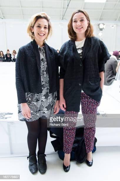Actress Alysson Paradis and Nina Meurisse attend the Devastee Fall/Winter 2013 ReadytoWear show as part of Paris Fashion Week on February 26 2013 in...