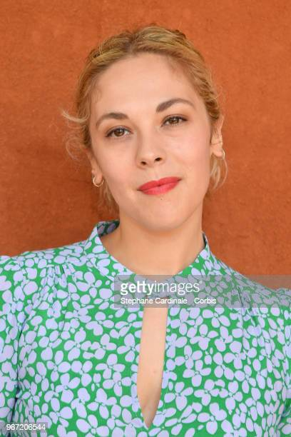 Actress Alysson Paradis attends the 2018 French Open Day Nine at Roland Garros on June 4 2018 in Paris France