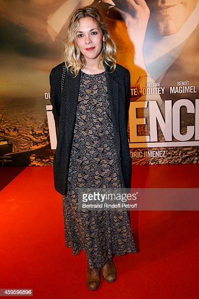 Actress Alysson Paradis attends the 'La French' Paris Premiere Held at Cinema Gaumont Capucine on November 25 2014 in Paris France