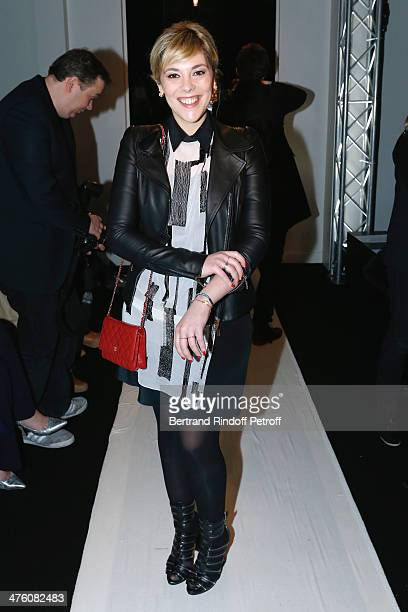 Actress Alysson Paradis attends the Maxime Simoens show as part of the Paris Fashion Week Womenswear Fall/Winter 20142015 Held at Lycee Jean Zay on...