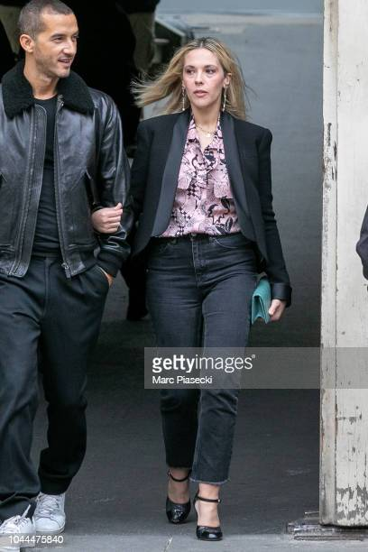 Actress Alysson Paradis is seen leaving the Chanel fashion show on October 2 2018 in Paris France