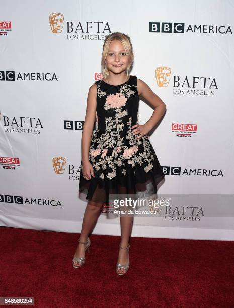 Actress Alyvia Alyn Lind arrives at the BBC America BAFTA Los Angeles TV Tea Party 2017 at The Beverly Hilton Hotel on September 16 2017 in Beverly...