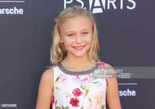 Actress Alyvia Alyn Lind attends PS ARTS' Express Yourself 2017 event at Barker Hangar on October 8 2017 in Santa Monica California