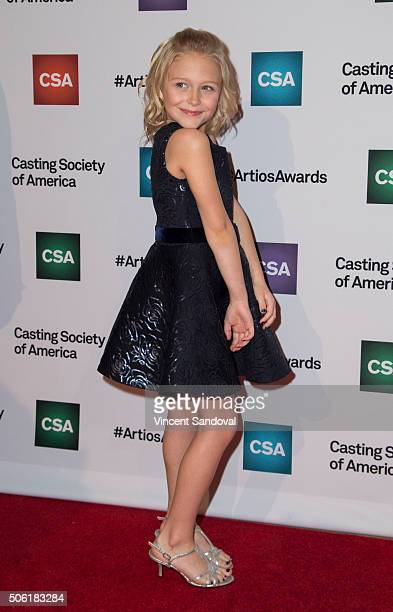 Actress Alyvia Alyn Lind attends the Casting Society of America's 31st Annual Artios Awards at The Beverly Hilton Hotel on January 21 2016 in Beverly...
