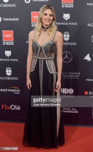 Actress Amaia Salamanca attends Feroz awards 2020 red carpet at Teatro Auditorio Ciudad de Alcobendas on January 16 2020 in Madrid Spain