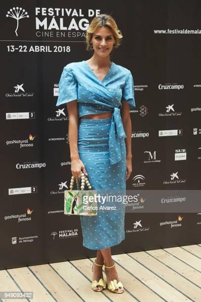 Actress Amaia Salamanca attends 'Que Te Juegas' photocall during the 21th Malaga Film Festival on April 20 2018 in Malaga Spain
