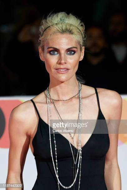 Actress Amaia Salamanca attends '¿Que Te Juegas premiere at the Cervantes Theater during the 22th Malaga Film Festival on March 21 2019 in Malaga...