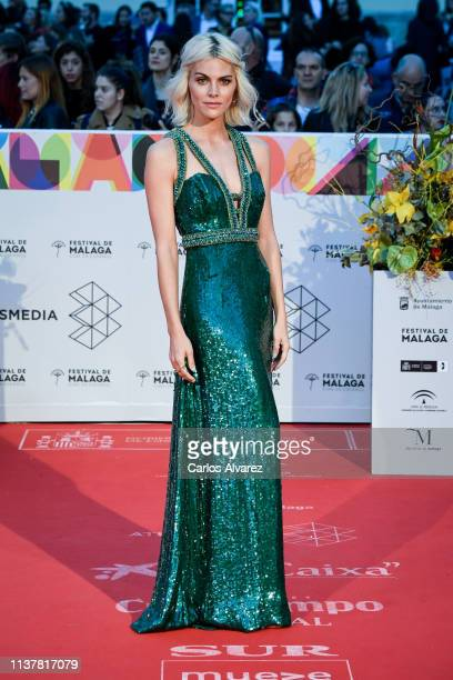 Actress Amaia Salamanca attends the Malaga Film Festival 2019 closing day gala at Cervantes Theater on March 23 2019 in Malaga Spain