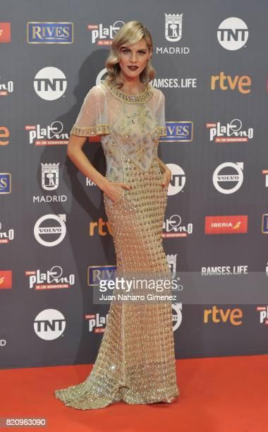 Actress Amaia Salamanca attends the 'Platino Awards 2017' photocall at La Caja Magica on July 22 2017 in Madrid Spain