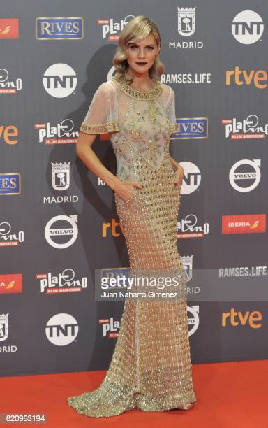Actress Amaia Salamanca attends the 'Platino Awards 2017' photocall at La Caja Magica on July 22 2017 in Madrid Spain