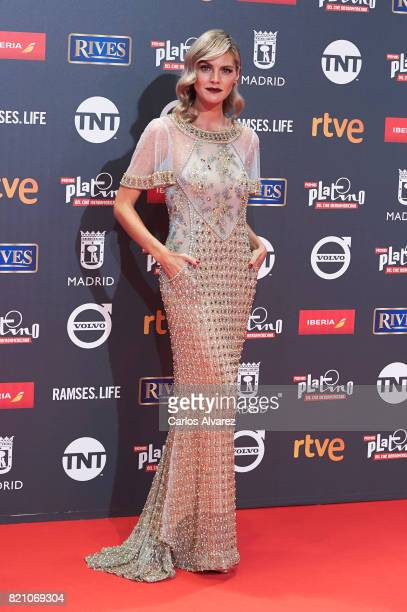 Actress Amaia Salamanca attends the Platino Awards 2017 photocall at the La Caja Magica on July 22 2017 in Madrid Spain
