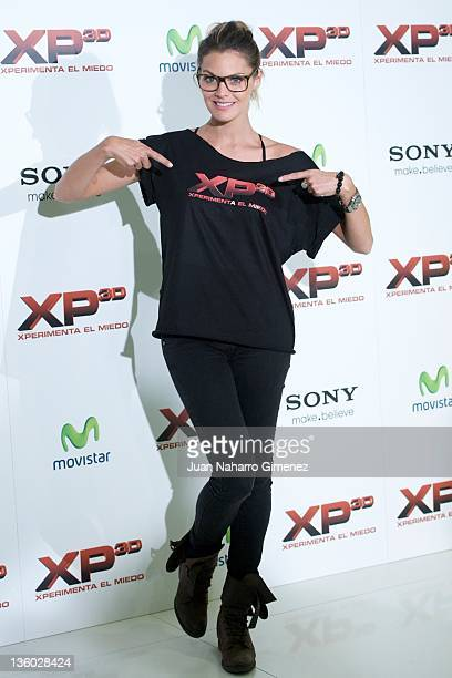 Actress Amaia Salamanca attends 'XP3D' photocall at Telefonica Flagship Store on December 20 2011 in Madrid Spain