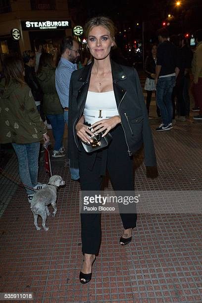 Actress Amaia Salamanca is seen arriving to 'Nuestros Amantes' premiere at Palafox Cinema on May 30 2016 in Madrid Spain