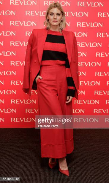 Actress Amaia Salamanca presents the Revlon new products at The Little Showroom on November 8 2017 in Madrid Spain