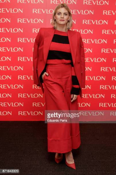 Actress Amaia Salamanca presents the Revlon new products at The Little Showroom on November 8, 2017 in Madrid, Spain.
